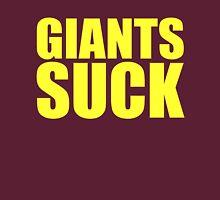 Washington Redskins - GIANTS SUCK - Yellow Text Unisex T-Shirt