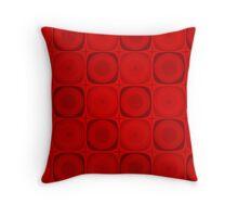 Retro Red Throw Pillow