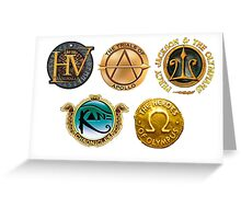 Rick Riordan Logo's Greeting Card