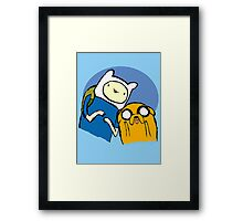 Finn and Jake - Adventure time Framed Print