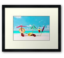 Chili Peppers On The Beach Framed Print