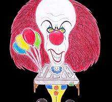 Horror Movie Clown Caricature by MMPhotographyUK