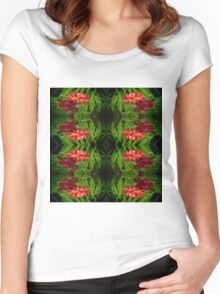 Flowers of red Women's Fitted Scoop T-Shirt