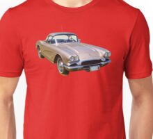 Silver1962 Chevrolet Corvette Sports Car Unisex T-Shirt