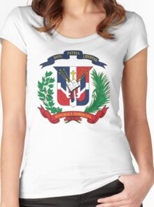 Dominican Republic Coat Of Arms Women's Fitted Scoop T-Shirt