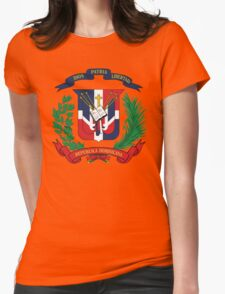 Dominican Republic Coat Of Arms Womens Fitted T-Shirt