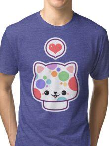 Cute Mushroom Cat Tri-blend T-Shirt