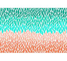 Coral Mint Ombre Photographic Print