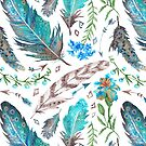 Feathered Floral by SpiceTree