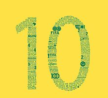 Neymar Jr Typographic Poster Brazil  by Ingleburt