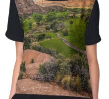 Moab Desert Canyon Golf Course At Sunrise Chiffon Top