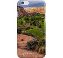 Moab Desert Canyon Golf Course At Sunrise iPhone Case/Skin