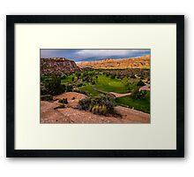 Moab Desert Canyon Golf Course At Sunrise Framed Print