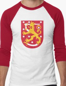 Finland Coat Of Arms Men's Baseball ¾ T-Shirt