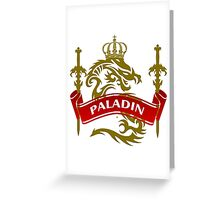 The Paladin Coat-of-Arms Greeting Card