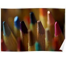 Color pencils up close Poster