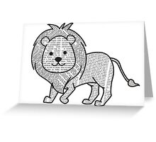 Cyril the Paper Lion Greeting Card