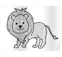 Cyril the Paper Lion Poster