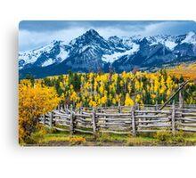 Sneffels Range Ranch In Fall - Colorado Canvas Print