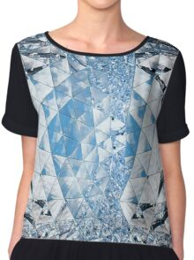 Blue sky in crystals Chiffon Top