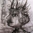 circus boy with a headful of ships . . .  by evon ski
