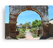 Old Mission San Luis Rey Archway Canvas Print
