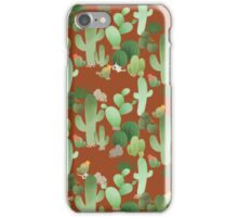 Cactus in Orange iPhone Case/Skin