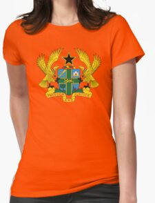 Ghana Coat Of Arms Womens Fitted T-Shirt
