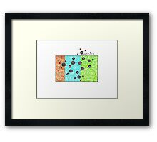 Coffee Addiction molecular structure of caffeine Framed Print