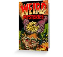 Weird Mysteries Comic cover Greeting Card