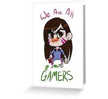 Gamer Gremlin Greeting Card