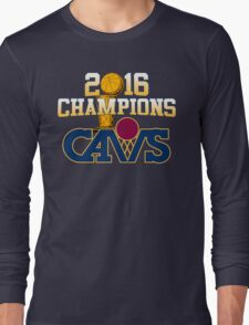Cavs 2016 Champions Retro Logo Long Sleeve T-Shirt
