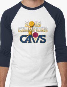 Cavs 2016 Champions Retro Logo Men's Baseball ¾ T-Shirt