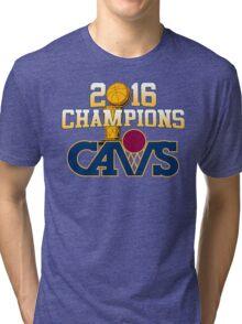 Cavs 2016 Champions Retro Logo Tri-blend T-Shirt