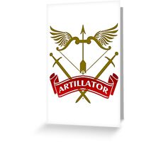 The Artillator Coat-of-Arms Greeting Card