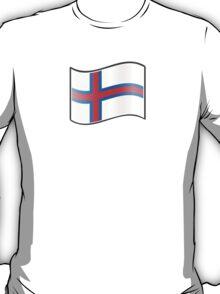 Waving Flag of Faroe Islands  T-Shirt