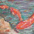 Koi (pastel) by Niki Hilsabeck