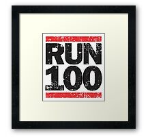 Run 100 Framed Print