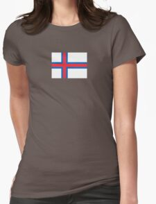 Flag of Faroe Islands Womens Fitted T-Shirt