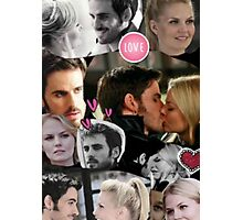 Once Upon A Time Captain Swan Collage Photographic Print