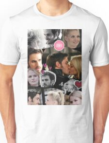 Once Upon A Time Captain Swan Collage Unisex T-Shirt