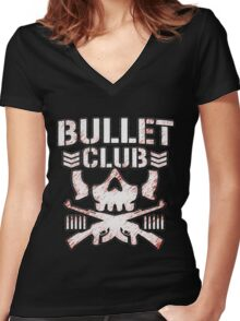BULLET CLUB: FIELD SOLDIER Women's Fitted V-Neck T-Shirt