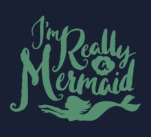 I'm Really A Mermaid // Pastel Neon Seapunk One Piece - Short Sleeve