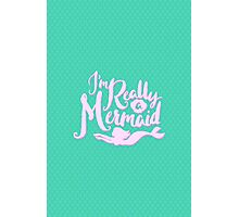 I'm Really A Mermaid // Pastel Neon Seapunk Photographic Print