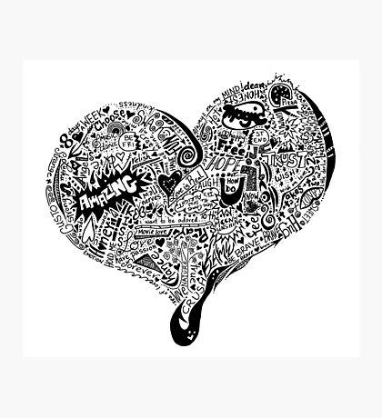 HeartFull graffiti love Photographic Print