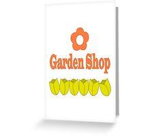 Garden Shop Logo Greeting Card