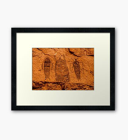 Intestine Man Pictograph - Moab - Utah Framed Print