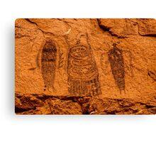 Intestine Man Pictograph - Moab - Utah Canvas Print