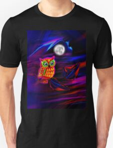 Neon Owl Thunderstorm Flash Unisex T-Shirt
