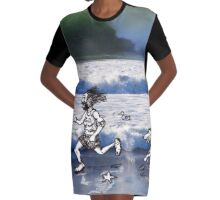 See Dick Run Graphic T-Shirt Dress